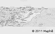 Silver Style Panoramic Map of Rutana