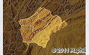 Physical Map of Ruyigi, darken