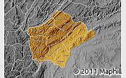 Physical Map of Ruyigi, desaturated