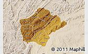 Physical Map of Ruyigi, lighten