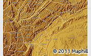 Physical Map of Ruyigi