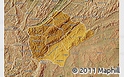 Physical Map of Ruyigi, satellite outside