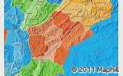 Political Shades Map of Ruyigi
