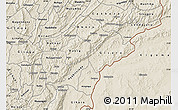 Shaded Relief Map of Ruyigi