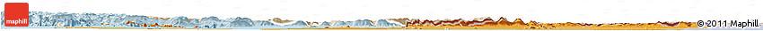 Political Shades Horizon Map of Banteay Meanchey, lighten