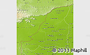 Physical Map of Banteay Meanchey
