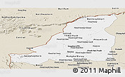 Classic Style Panoramic Map of Banteay Meanchey