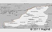 Gray Panoramic Map of Banteay Meanchey