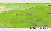 Physical Panoramic Map of Banteay Meanchey