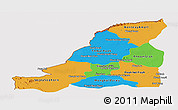 Political Panoramic Map of Banteay Meanchey, cropped outside
