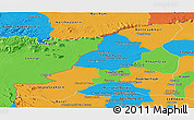 Political Panoramic Map of Banteay Meanchey