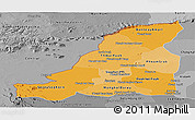 Political Shades Panoramic Map of Banteay Meanchey, desaturated