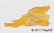 Political Shades Panoramic Map of Banteay Meanchey, single color outside