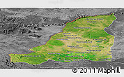 Satellite Panoramic Map of Banteay Meanchey, desaturated