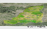Satellite Panoramic Map of Banteay Meanchey, semi-desaturated