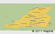 Savanna Style Panoramic Map of Banteay Meanchey, single color outside
