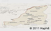 Shaded Relief Panoramic Map of Banteay Meanchey, lighten