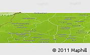 Physical Panoramic Map of Phnom Srok