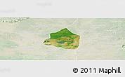 Satellite Panoramic Map of Phnom Srok, lighten
