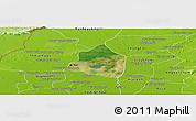 Satellite Panoramic Map of Phnom Srok, physical outside
