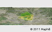 Satellite Panoramic Map of Phnom Srok, semi-desaturated