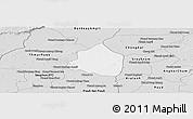 Silver Style Panoramic Map of Phnom Srok