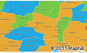 Political 3D Map of Preah Net Preah