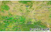 Satellite 3D Map of Preah Net Preah