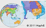 Political Location Map of Preah Net Preah
