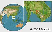 Satellite Location Map of Preah Net Preah