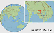 Savanna Style Location Map of Preah Net Preah