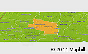 Political Panoramic Map of Preah Net Preah, physical outside