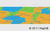 Political Panoramic Map of Preah Net Preah