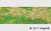 Satellite Panoramic Map of Preah Net Preah