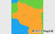 Political Simple Map of Preah Net Preah
