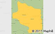 Savanna Style Simple Map of Preah Net Preah