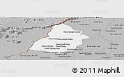 Gray Panoramic Map of Thmar Puok