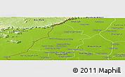 Physical Panoramic Map of Thmar Puok