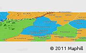 Political Panoramic Map of Thmar Puok