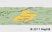 Savanna Style Panoramic Map of Thmar Puok