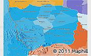 Political Shades 3D Map of Battambang