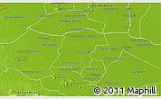 Physical 3D Map of Battambong (DC)