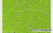 Physical Map of Battambong (DC)