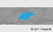 Political Panoramic Map of Battambong (DC), desaturated