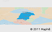 Political Panoramic Map of Battambong (DC), lighten