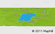 Political Panoramic Map of Battambong (DC), physical outside