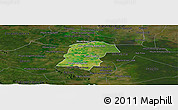 Satellite Panoramic Map of Battambong (DC), darken