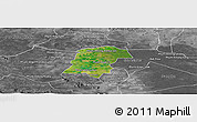 Satellite Panoramic Map of Battambong (DC), desaturated