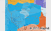 Political Shades Map of Battambang