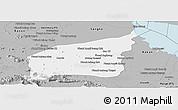Gray Panoramic Map of Mong Russey